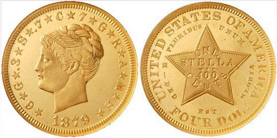 zlota-4-dolarowka-stella-1879-coiled-hair