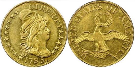 moneta-zlota-5-dolarow-USD-Liberty-1795-1797-United-States-of-America