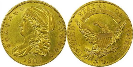 moneta-zlota-5-dolarow-USD-Liberty-1807-United-States-of-America