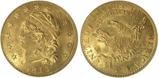 moneta-zlota-5-dolarow-USD-Liberty-1813-United-States-of-America