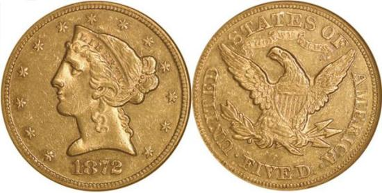 moneta-zlota-5-dolarow-USD-Liberty-1872-United-States-of-America