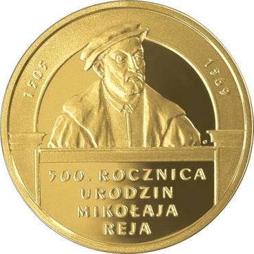 200 zł 500. rocznica urodzin Mikołaja Reja