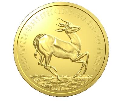 złota moneta Serii Natura 2017 Południowa Afryka