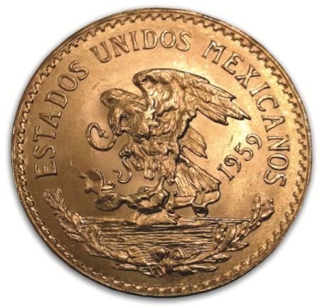 20 Peso złota moneta rocznik 1959