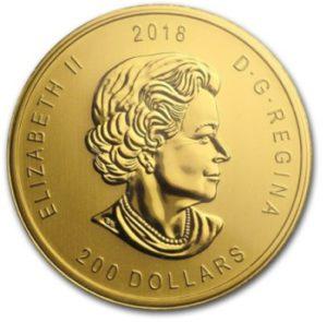 1oz-Kanadyjski-Orzel-Zew Natury-Call-of-the-Wild-zlota-moneta-2018-awers