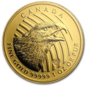 1oz-Kanadyjski-Orzel-Zew Natury-Call-of-the-Wild-zlota-moneta-2018-rewers