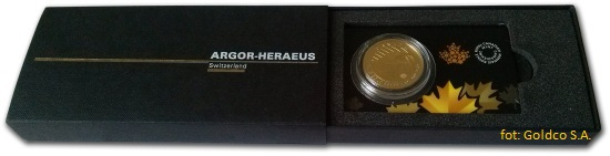 Etui na złotą monetę