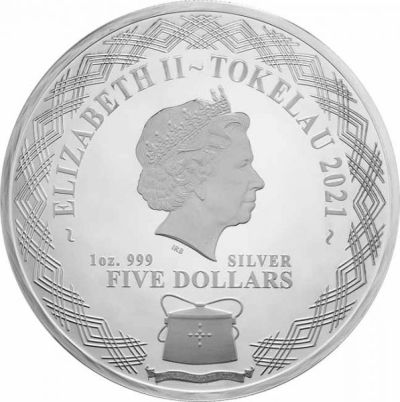 Rok-Wolu-2021-Tokalau-5NZD-srebrna-moneta-awers